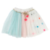 BILLIEBLUSH - Multicolored Tulle Skirt w/ Gold Belt