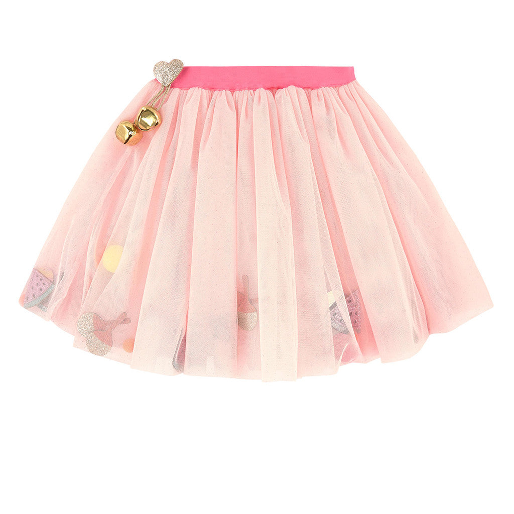 9bf1c1102b Billieblush Tulle Skirt with Pom Poms and Patches