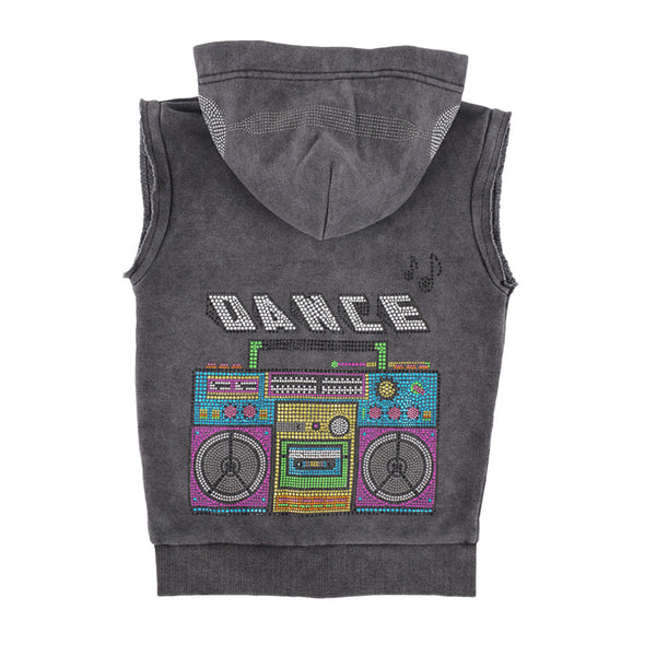 "BUTTER - Vintage Sleeveless ""Boombox Dance"" Hoodie"