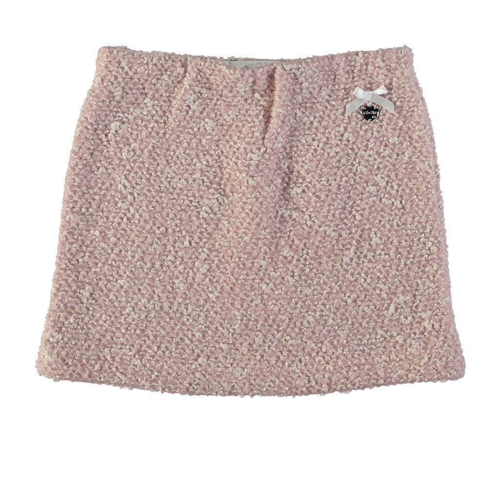 LE CHIC - Textured Skirt with Bow