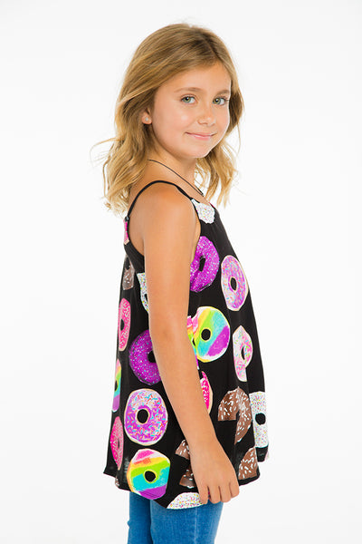 "CHASER KIDS - ""Donuts"" Cotton Jersey Flounce Cami"