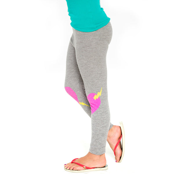 "CHASER KIDS - ""Heart Knees"" Love Knit Leggings"