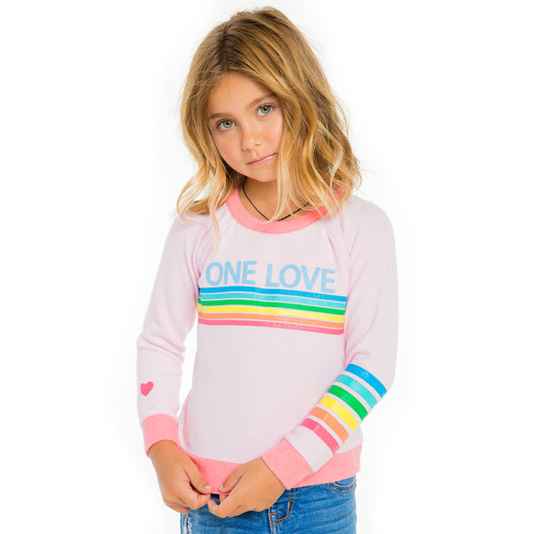 "CHASER KIDS - ""One Love"" Love Knit Raglan Pullover"