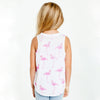 "CHASER KIDS - ""Pink Flamingos"" Jersey Shirttail Muscle Tank"