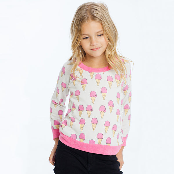 "CHASER KIDS - ""Ice Creams"" Love Knit Raglan Pullover"