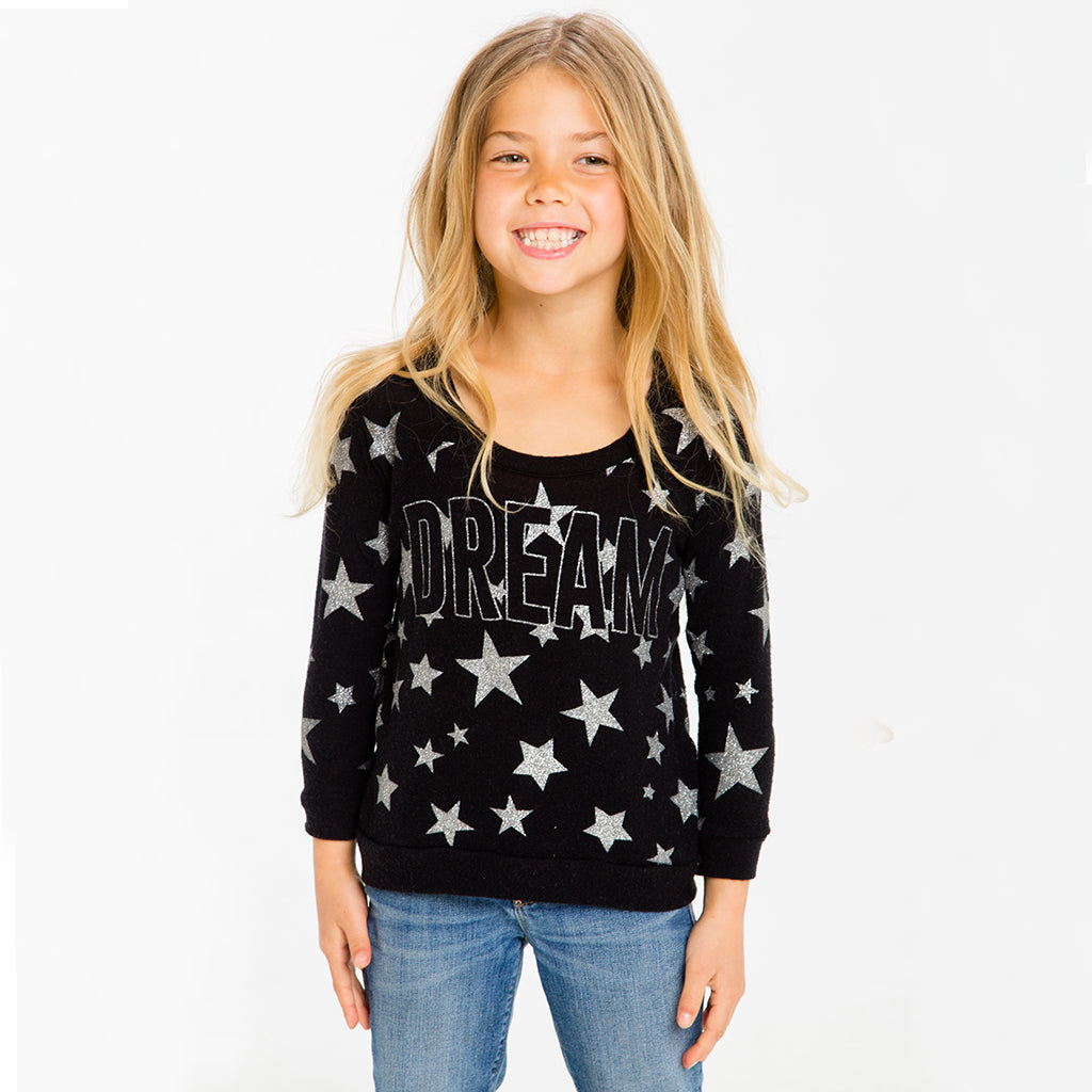 "CHASER KIDS - ""Starry Dream"" Love Knit Raglan Pullover"