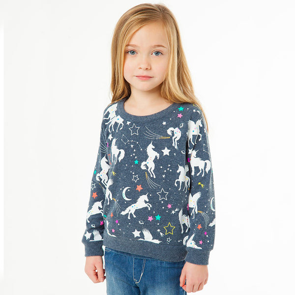 "CHASER KIDS - ""Unicorn Fantasy"" Love Knit Raglan Pullover"