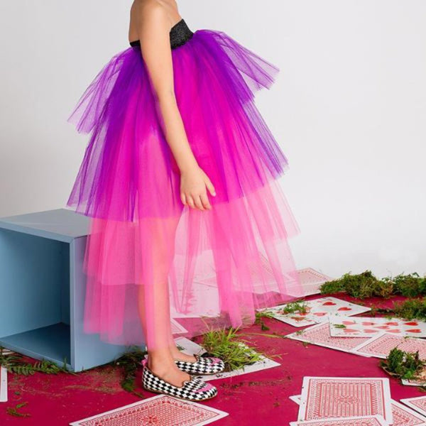 "EFVVA - ""Down the Rabbit Hole"" - Ultraviolet Tutu Skirt"