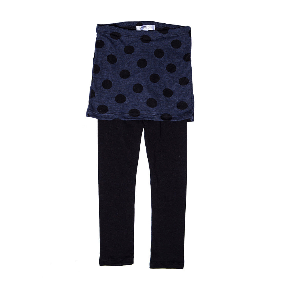 JOAH LOVE - Navy Dot Burnout Skegging