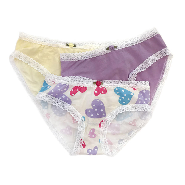 "ESME - ""Confetti Hearts"" Panties 3 Pack"