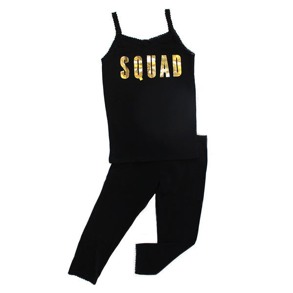 "ESME - Mommy and Me ""Squad"" Camisole & Leggings Set"