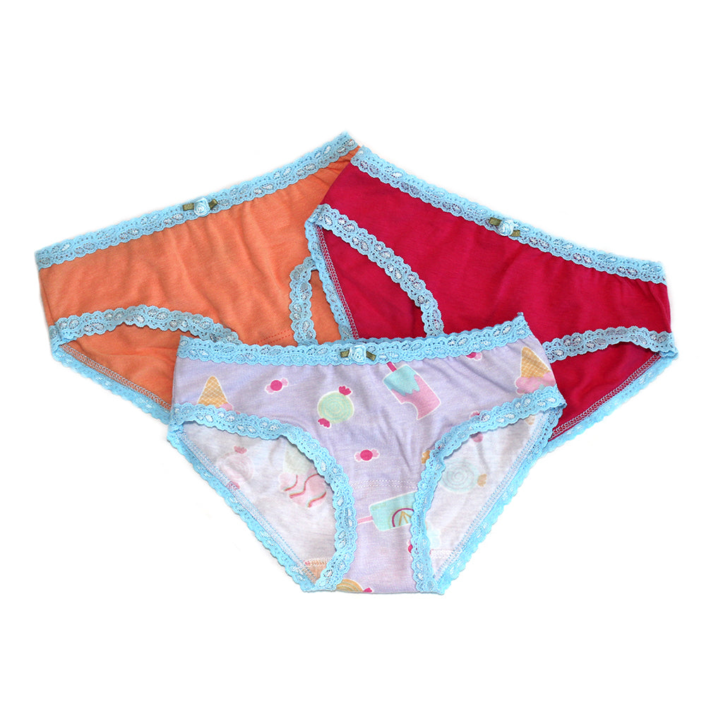 "ESME - "" Lavender Ice Cream"" Panties 3 Pack"