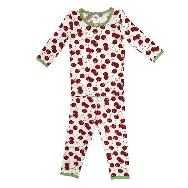 "ESME - ""Cherries"" 3/4 Sleeve Top & Leggings Set"
