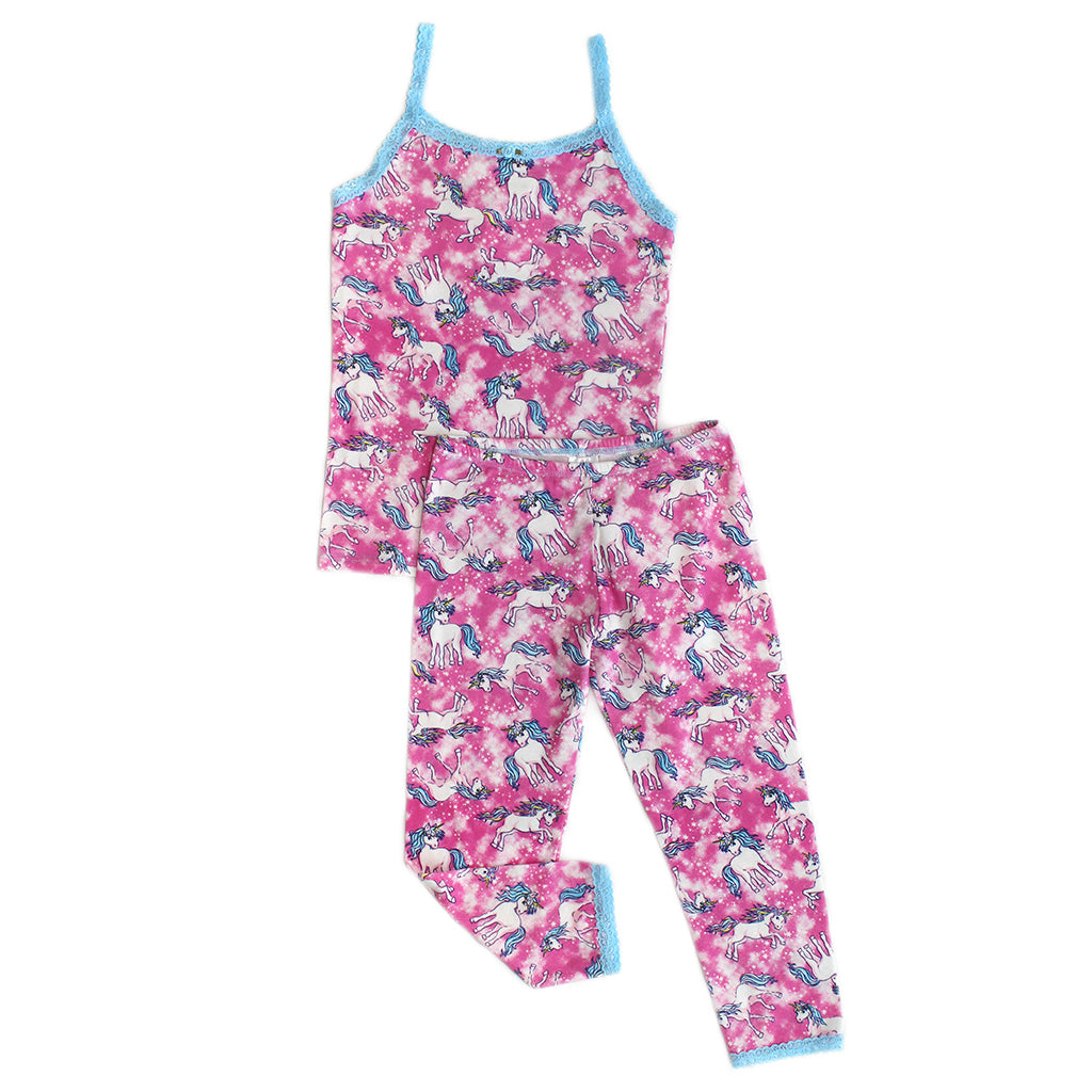 "ESME - ""Pink Unicorn"" Camisole & Leggings Set"