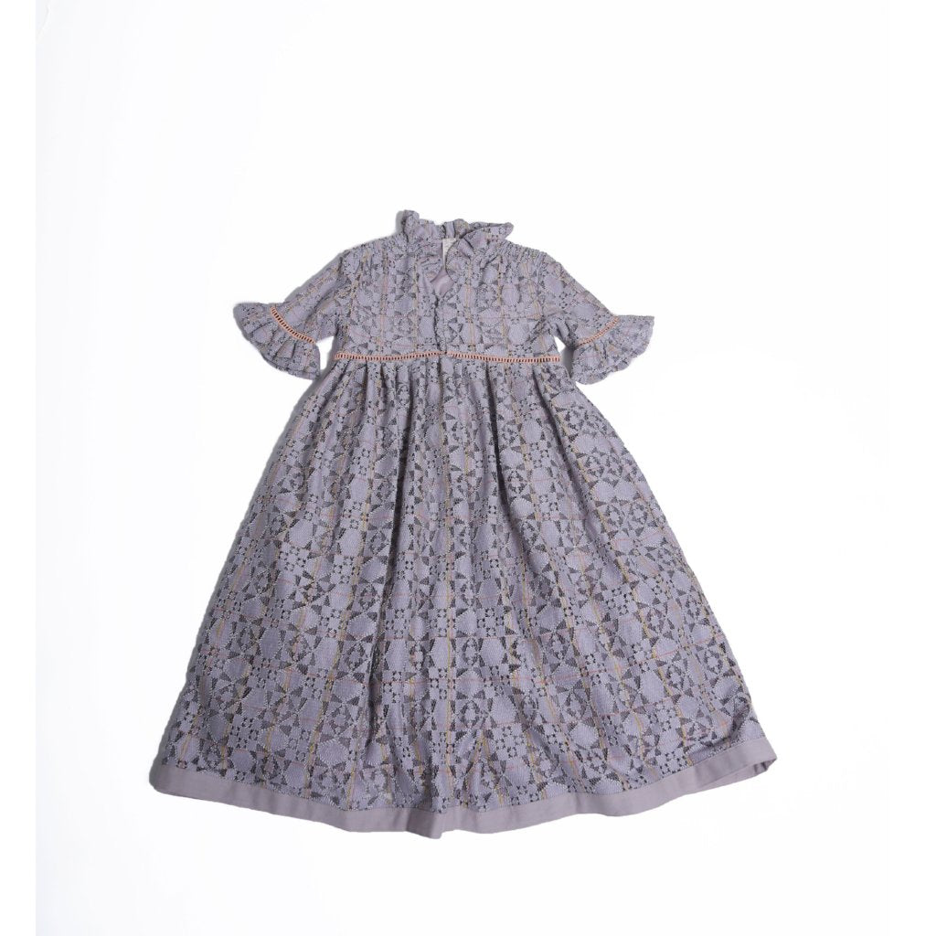 TIA CIBANI KIDS - Carriage Smock Maxi Dress