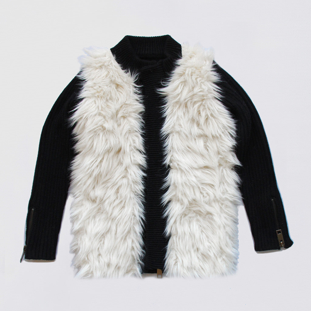 VIERRA ROSE - Gail Furry Knitted Jacket