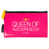 "HAPPY JACKSON LONDON - ""Queen of Awesomeness"" Zipper Pouch"
