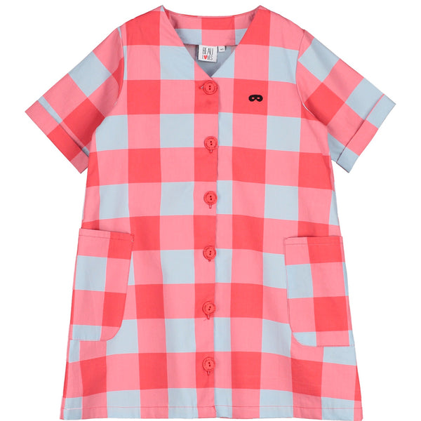 BEAU LOVES - Button Front Gingham Dress