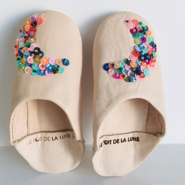 "LE TOIT DE LA LUNE - ""Circus"" Leather Slippers"