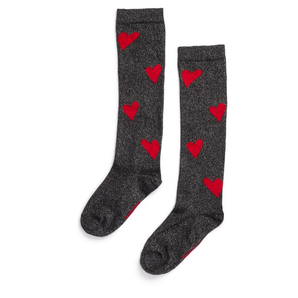 SONIA RYKIEL ENFANT - Iboga High Glitter Heart Socks
