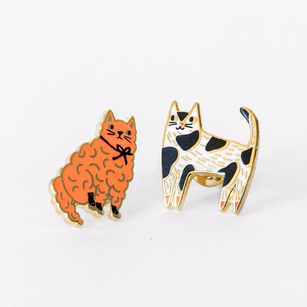 "YELLOW OWL WORKSHOP - ""Cat"" Mismatched Earrings"