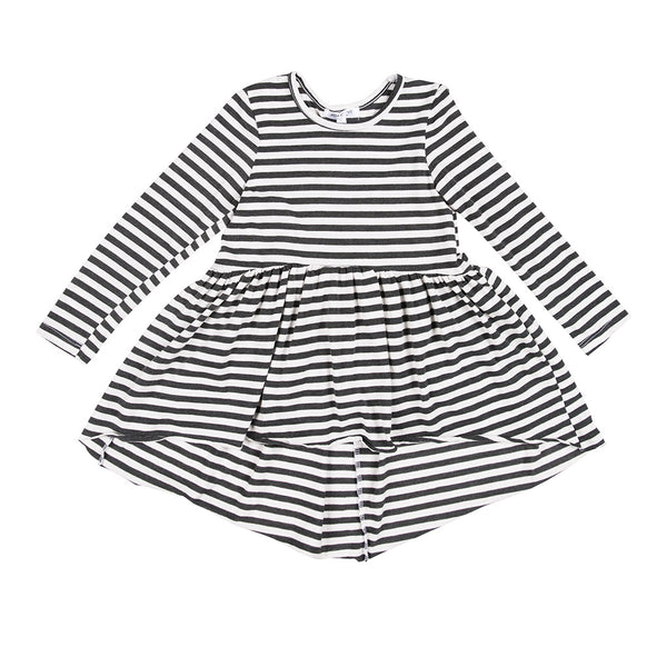 JOAH LOVE - Sofi Striped Jersey Hi/Low Tunic