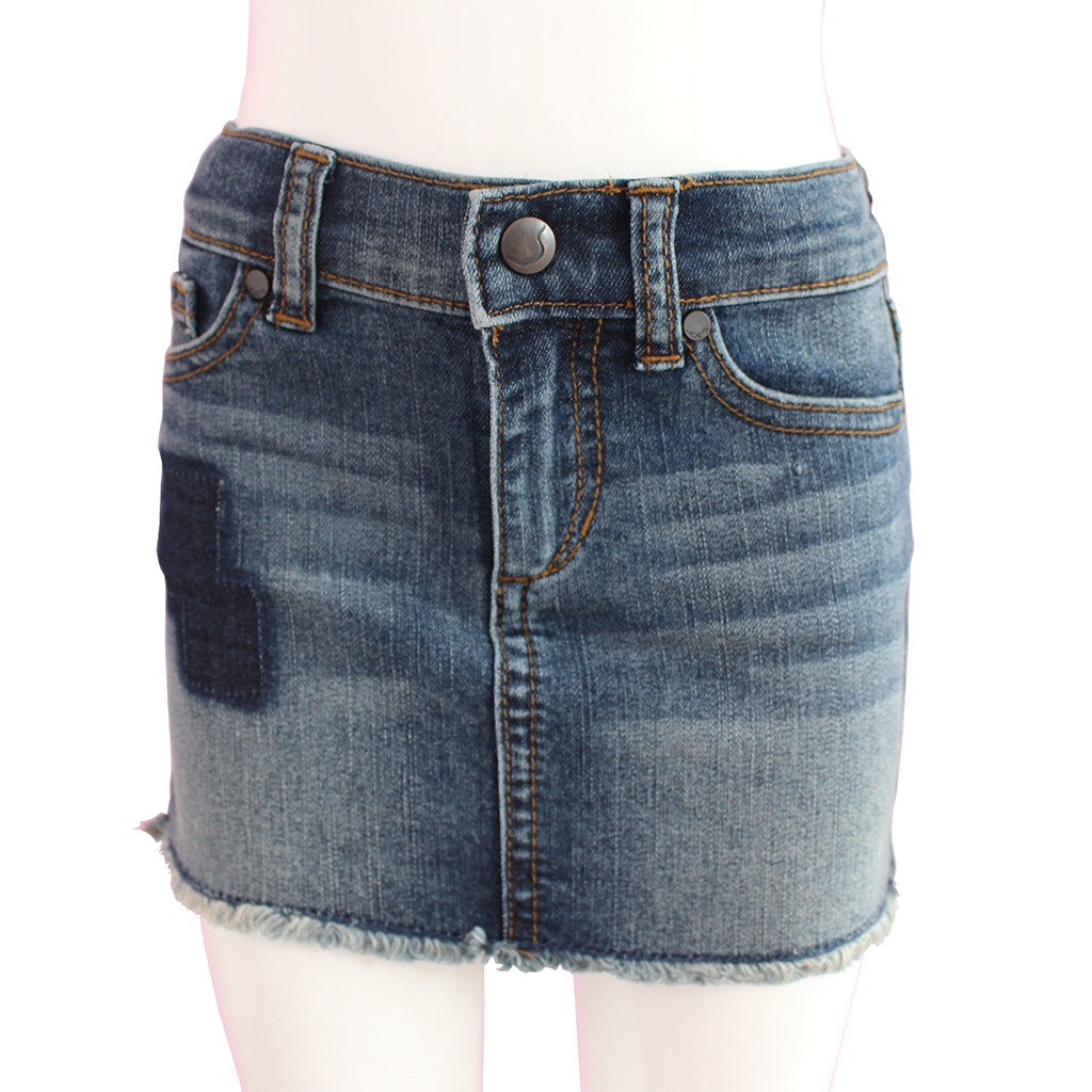 JOE'S JEANS - Patchwork Removal Mini Skirt