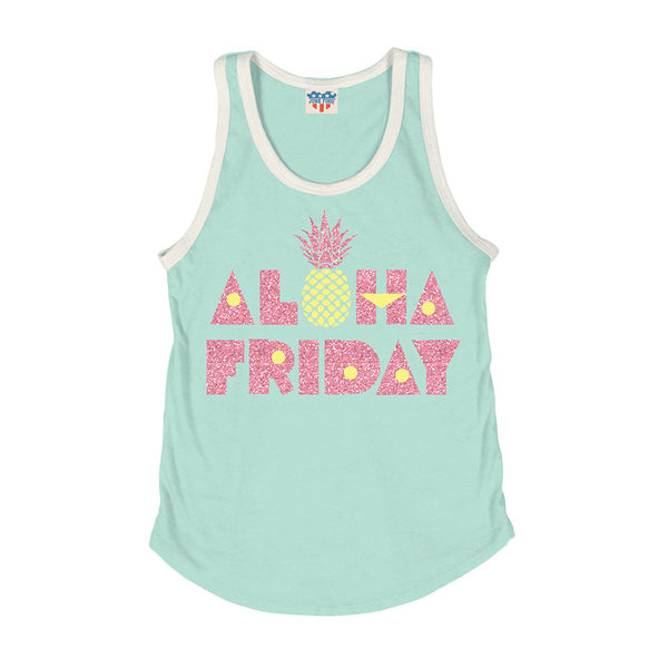 "JUNK FOOD - ""Aloha Friday"" Ringer Tank"