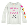 "NEW! - JUNK FOOD - ""Happy Go Lucky"" Fleece Sweatshirt"
