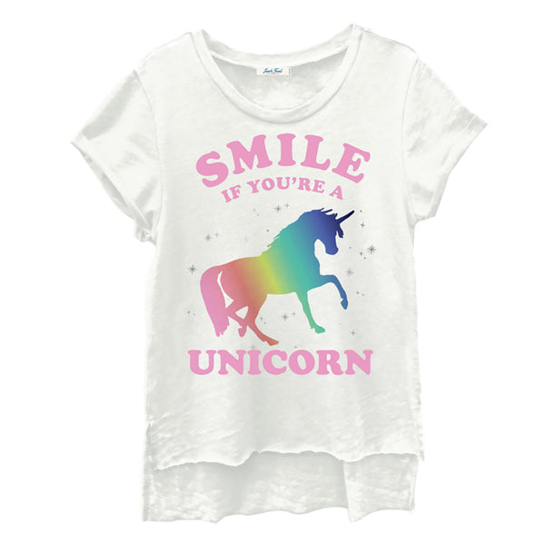 "JUNK FOOD - ""Smile If You're A Unicorn"" Tee"