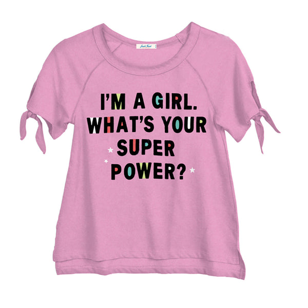 "JUNK FOOD - ""I'm A Girl, What's Your Superpower?"" Tee"