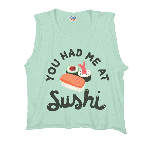 "JUNK FOOD - ""You Had Me at Sushi"" Raglan Tank"