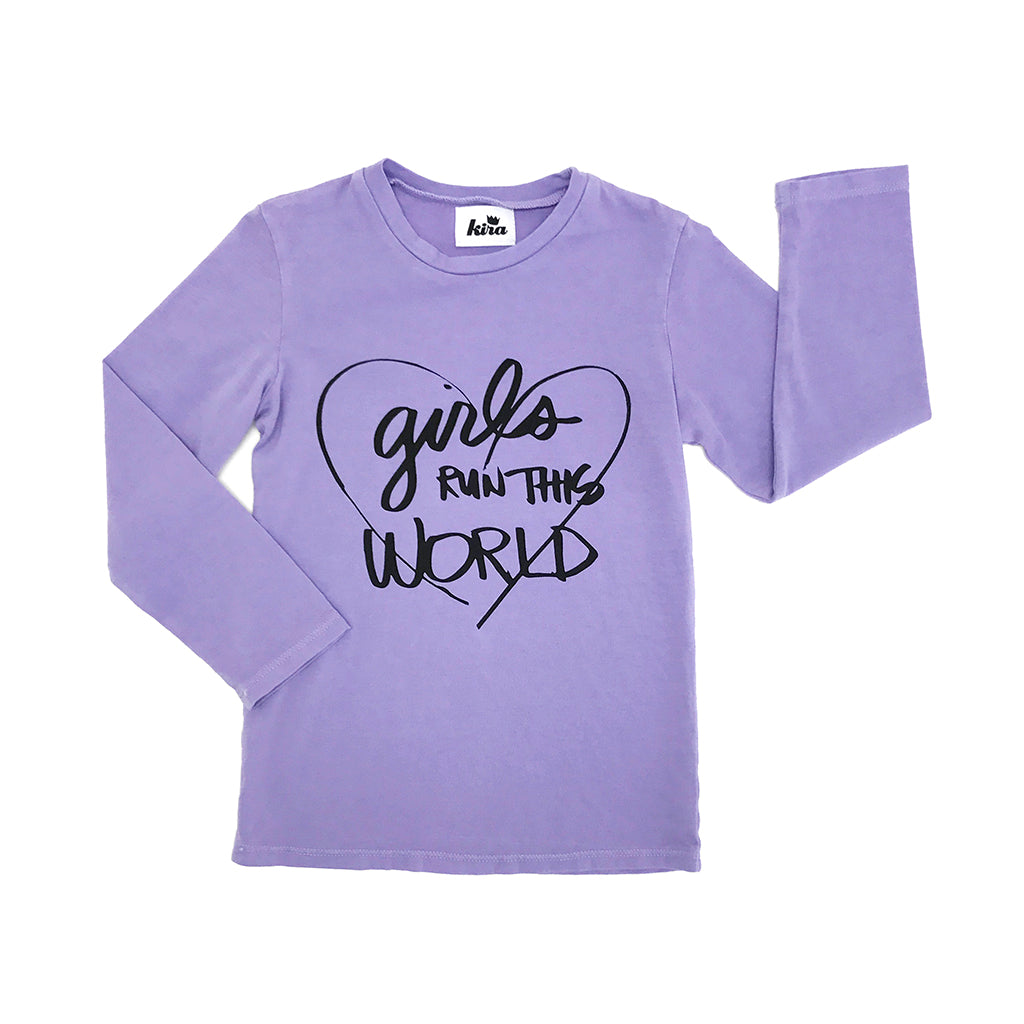 "KIRA KIDS - ""Girls Run This World"" Long Sleeve Tee"