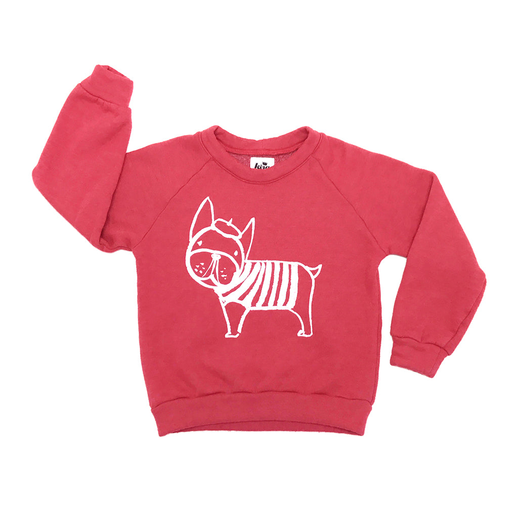 "KIRA KIDS - ""Frenchie"" Raglan Sweatshirt"