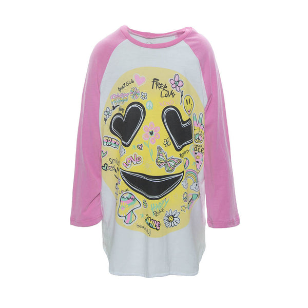 <transcy>LAUREN MOSHI KIDS-Bunny &quot;Happy Daze&quot;3/4 Sleeve Raglan</transcy>