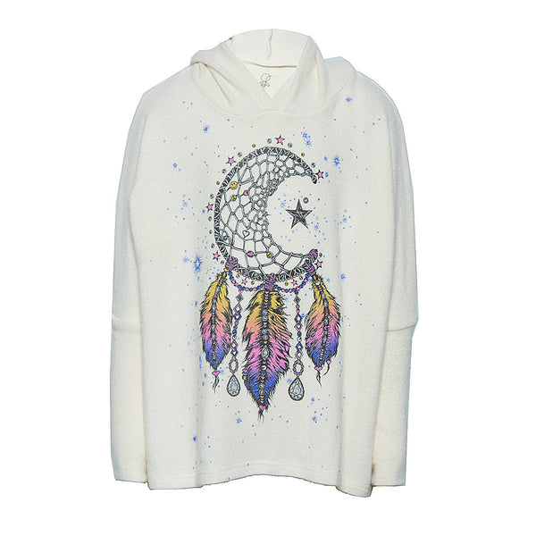 "Cookie ""Moon Dreamcatcher"" Oversized Pullover with Hood"