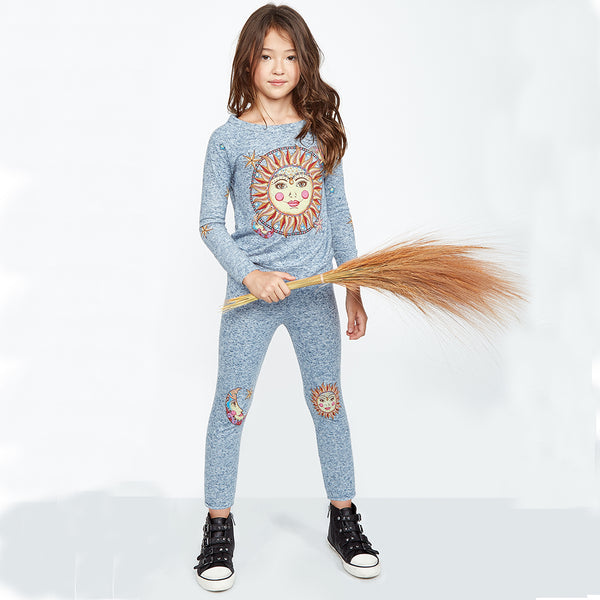 "LAUREN MOSHI KIDS - Mouse ""Celestial Sun"" Sweatpants"