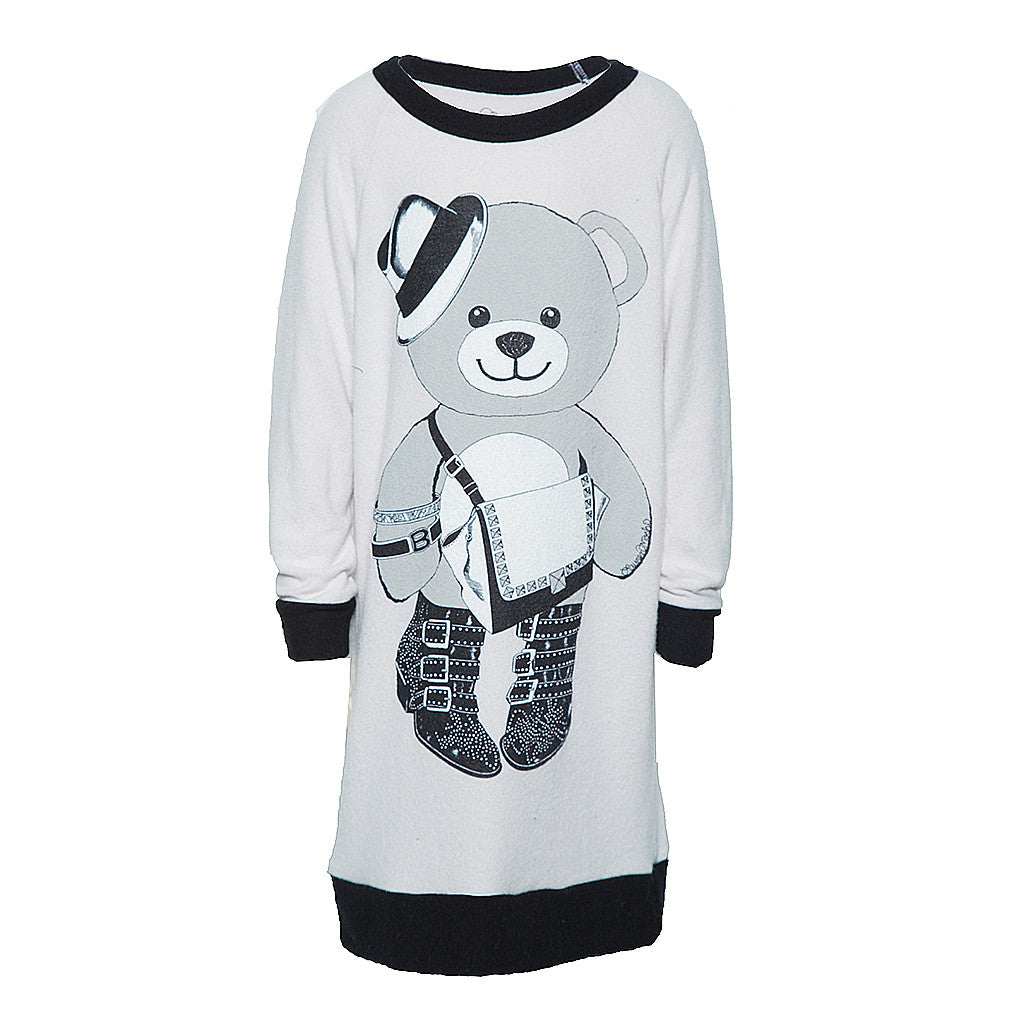 "LAUREN MOSHI KIDS - Nemo ""Teddy Bear"" Long Sleeved Pullover Dress"