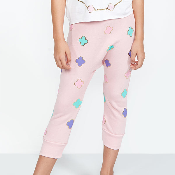 "LAUREN MOSHI KIDS - Stewie ""Happy Luck"" Drop Crotch Sweatpants"