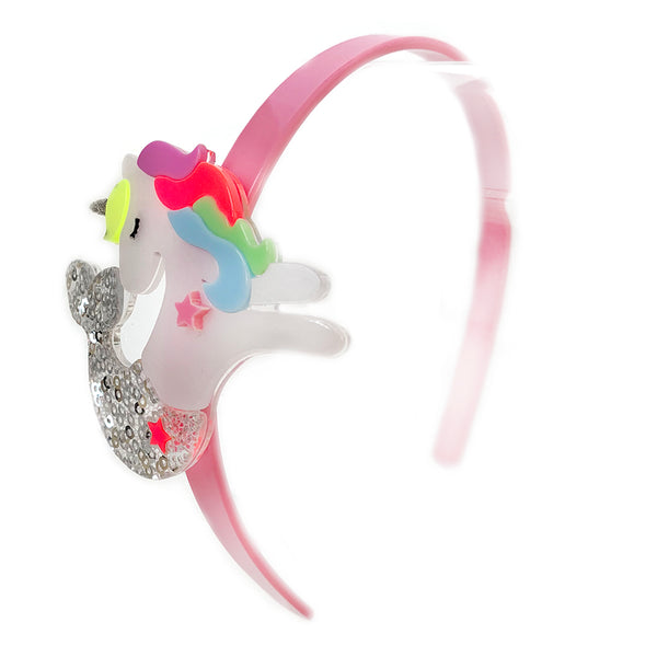 "LILIES & ROSES NY - ""Unicorn Mermaid"" Acrylic Headband"