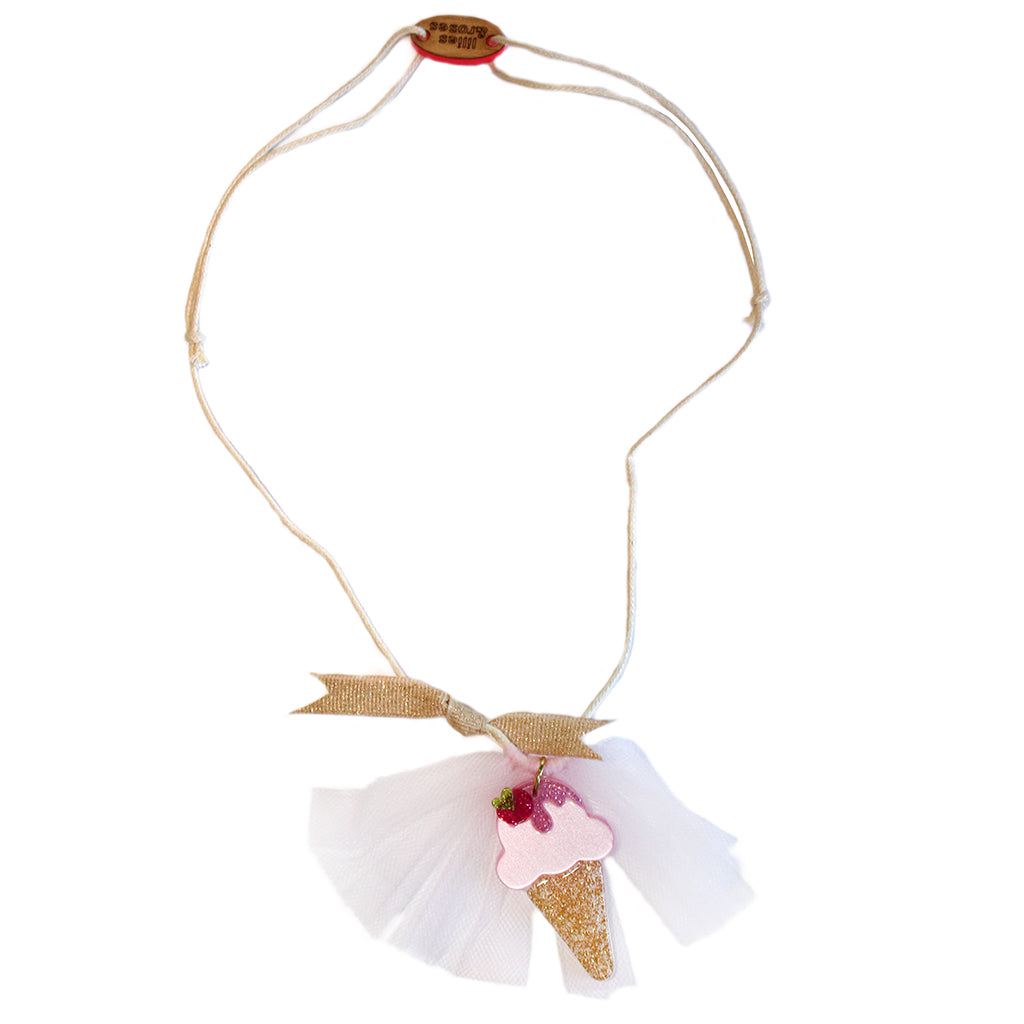 "LILIES & ROSES NY - ""Ice Cream"" Acrylic Necklace"