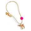 LITTLE LOVELAND - Glitter Animals: Bambi Glitter Necklace
