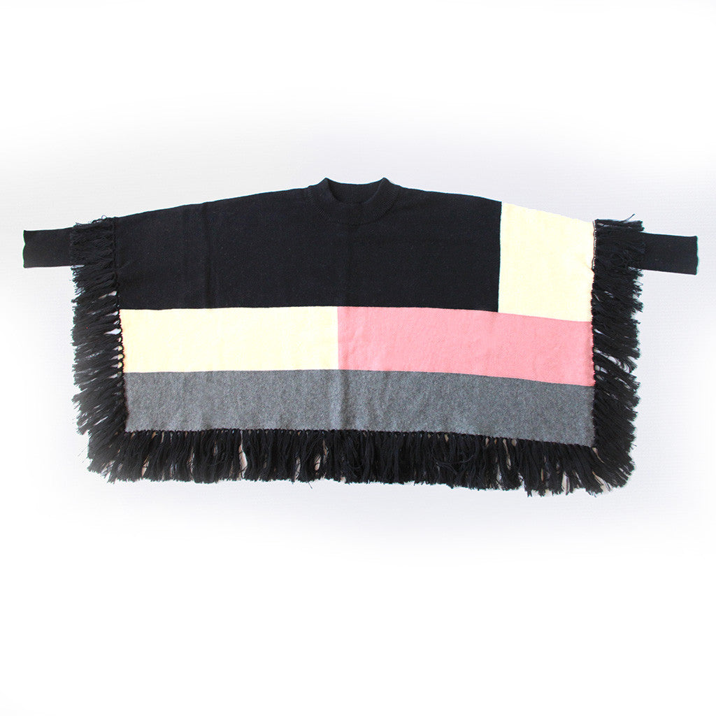 VIERRA ROSE - Nadia Colorblocked Poncho
