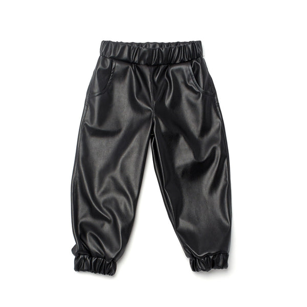 OMAMIMINI - Faux Leather Jogger