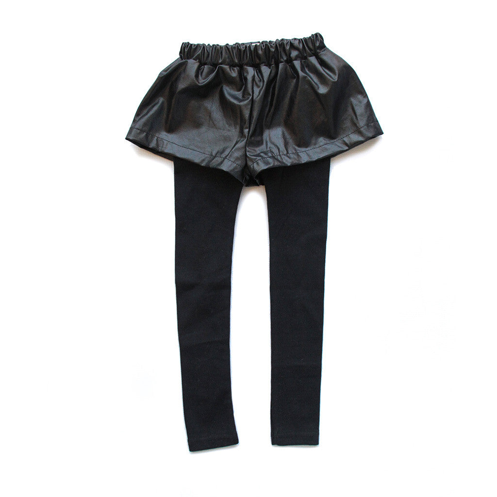 VIERRA ROSE - Odell Faux Leather Short Leggings
