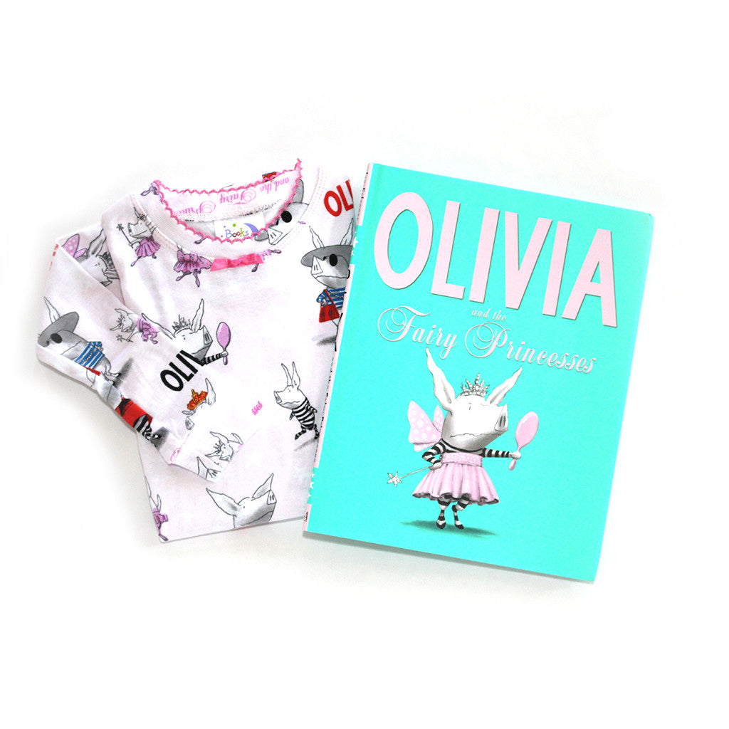 "BOOKS TO BED - ""Olivia and the Fairy Princesses"" Pajamas & Book Set"