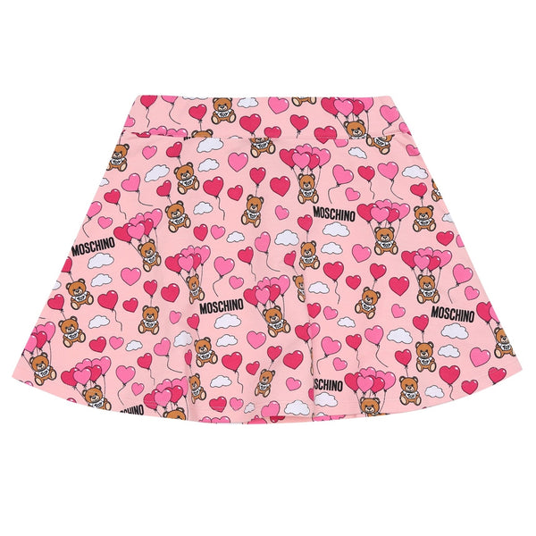 MOSCHINO - Heart Balloons Teddy Bear Skirt