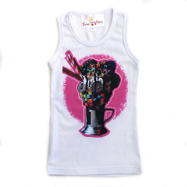 "PENELOPE WILDBERRY - ""Ice Cream Sundae"" Poly Rib Tank"