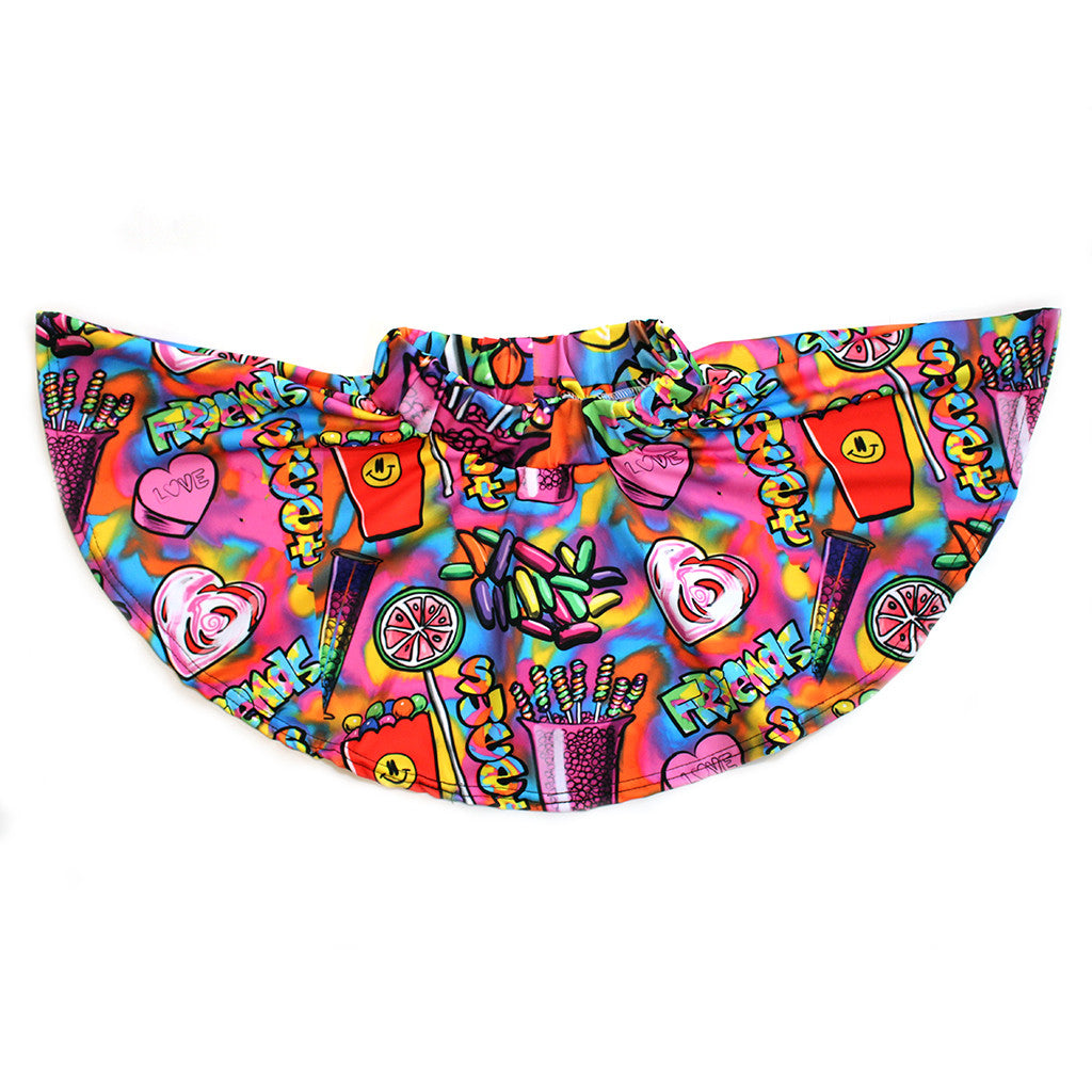 "PENELOPE WILDBERRY - ""Candy Friends"" Skater Skirt"