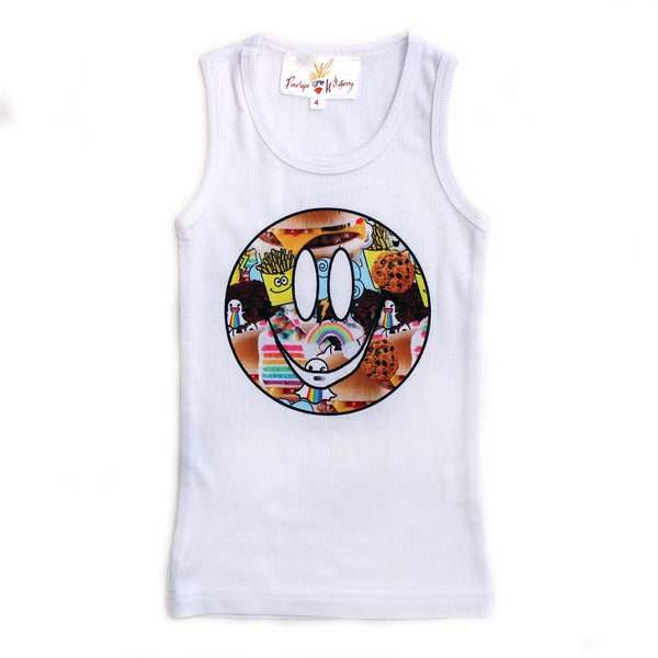 "PENELOPE WILDBERRY - ""Foodie"" Poly Rib Tank"
